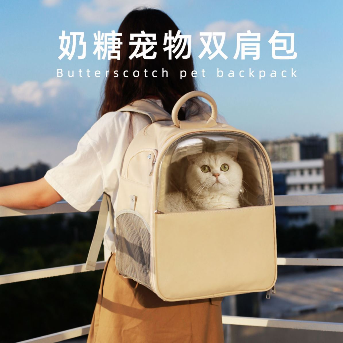 Pet backpack dog with mommy summer small dog out portable medium Dog Backpack cat cute