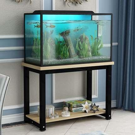 鱼缸底柜钢木底架铁架不锈钢底座柜子鱼缸架子乌龟金鱼缸桌铁艺