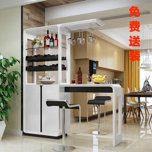 。小吧台桌酒柜家用客厅隔断欧式简约现代厨房餐厅一体多功能