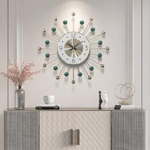 钟表挂钟客厅北欧创意时钟大气静音现代简约挂钟时尚艺术挂墙钟表