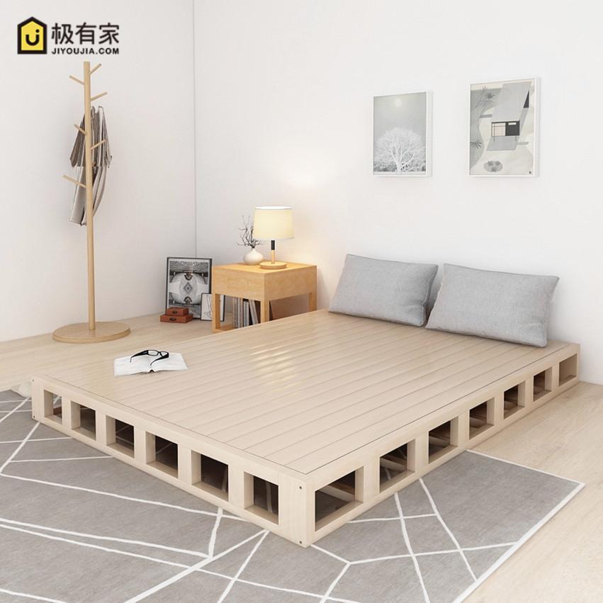 实木床架硬床板木板护腰日式床垫