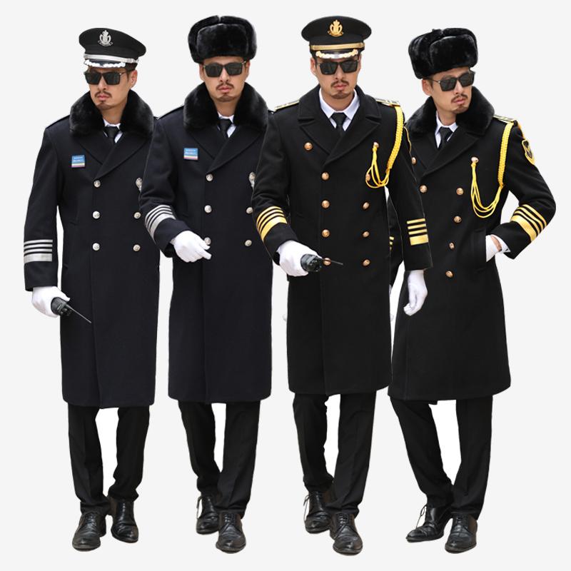 冬季保安呢大衣形象岗加厚礼宾物业售楼形象岗制服新式工作服套装图片