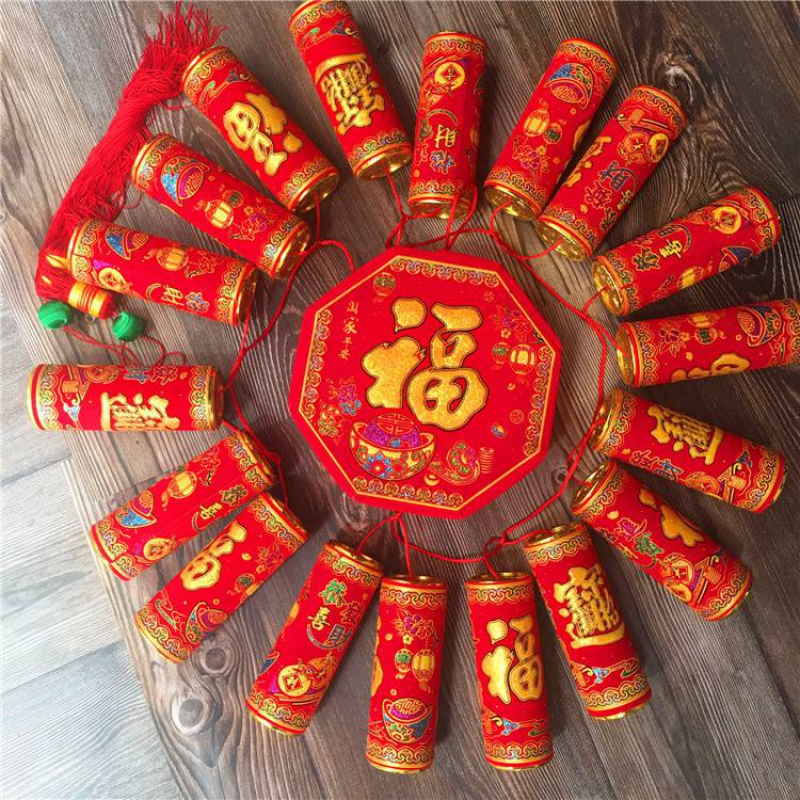 New years spring festival decorations firecracker pendants 18 large sequins firecrackers decorations for Spring Festival