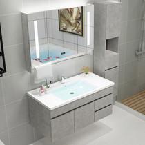 不锈钢卫浴室柜组合套装洗手池洗脸现代简约卫生间厕所洗漱台盆