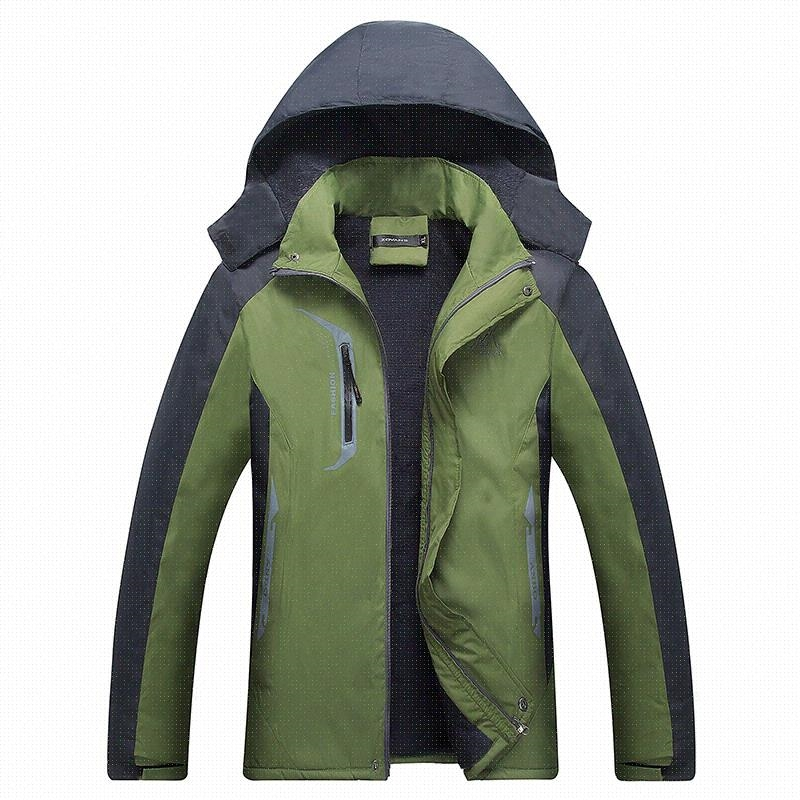Outdoor spring and autumn thickened Plush mens stormsuit waterproof windproof coat womens Korean popular breathable mountaineering clothing