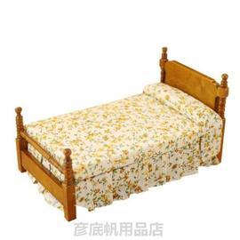 小床小古风床仿真迷你小家具模型小摆件BJD娃娃专区14周岁以上图片