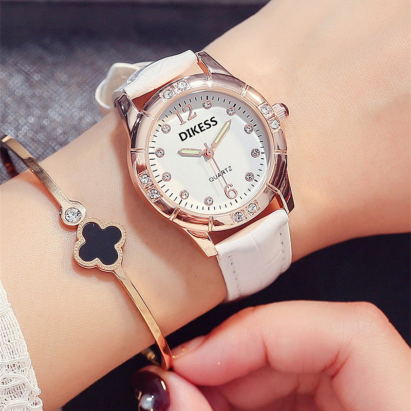 中國代購|中國批發-ibuy99|女士手表|韩版个性品牌女表时尚休闲防水夜光学生女款手表简约气质镶钻女士