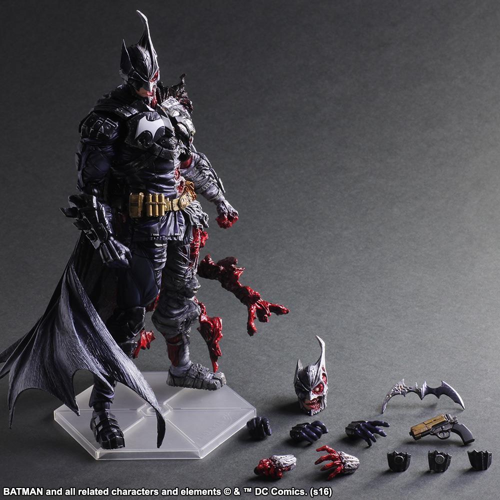 Hot selling playarts change PA to DC Bushido Batman battle Superman movable model handmade doll ornaments