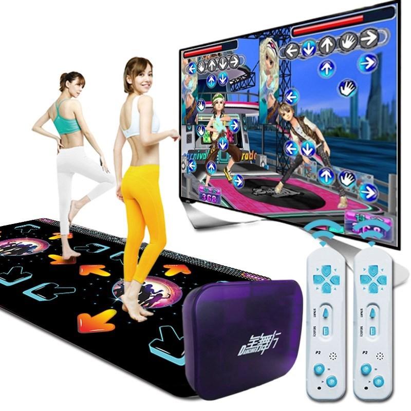 跳舞毯连接家用游戏垫电视接口运动室内抖音双人发光劲舞瑜伽防滑