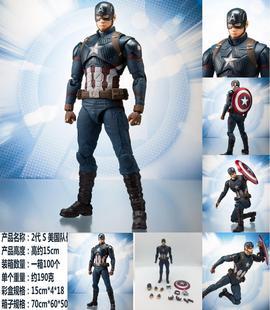 热销漫威复仇者联盟4钢铁侠手办蜘蛛美国队长3灭霸绿巨人人偶模型