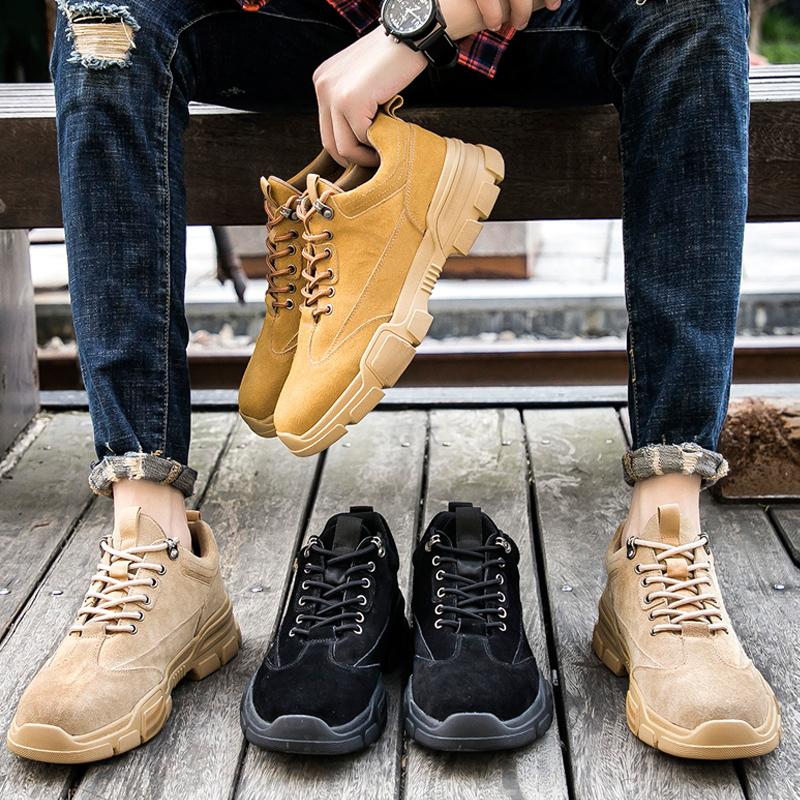 马丁靴男鞋秋款牛皮靴子中帮男靴英伦高帮短靴休闲工装鞋低帮军靴