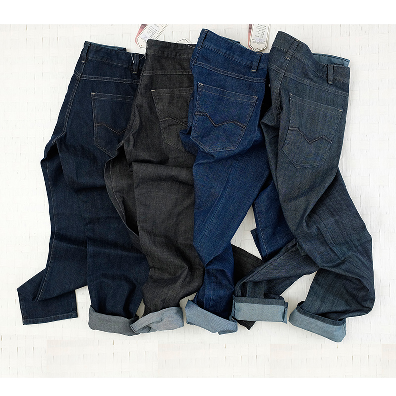 Casual pants mens regular straight tube mid waist jeans work pants mens overalls loose wear-resistant labor protection work pants