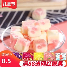 日本进口kabaya卡巴也白桃果汁糖果