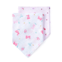 Cotton era baby mouth water towel pure cotton gauze towel facial washcloth newborn baby supplies triangular scarf mouth x2