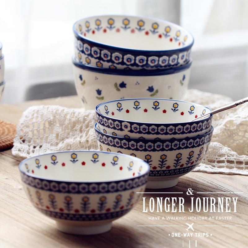 高端釉下彩日式陶瓷碗牛排盘早餐盘菜盘西餐盘沙拉盘ins北欧创意