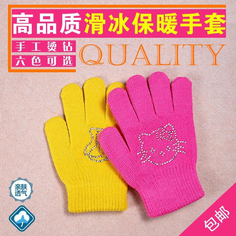Настроение скольжение лед перчатки ребенок горячее бурение толстые руки крышка взрослых женщин настроение ледовые коньки обувной теплый вязание бесплатная доставка