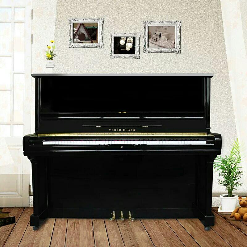 大人家用儿童初学者二手立式钢琴好路歌尔118三益U3韩国英昌