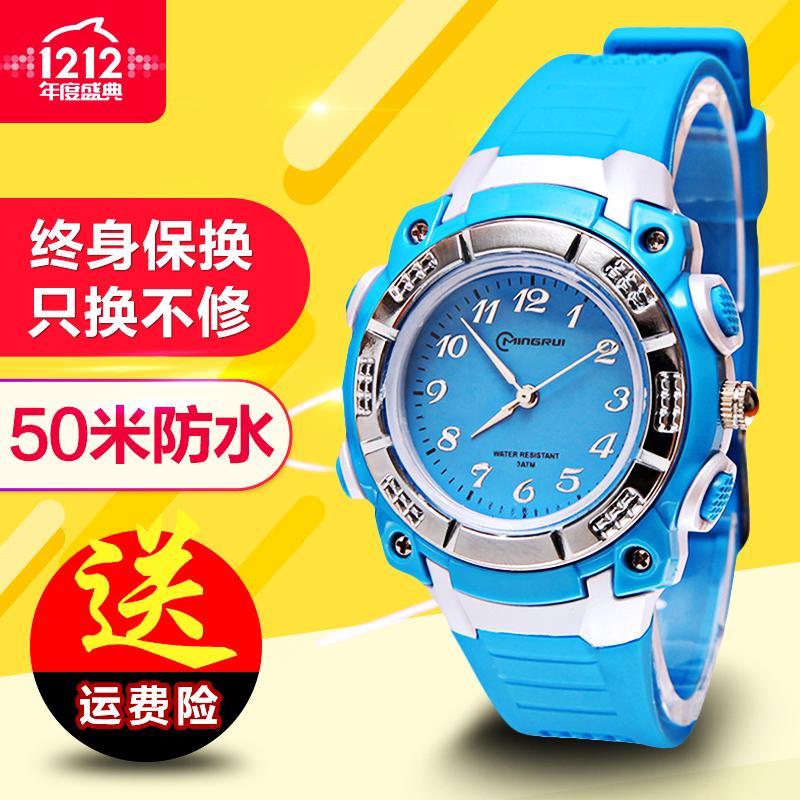 儿童手表指针式男孩电子表防水5-15岁小孩子石英表小学生手表女孩图片