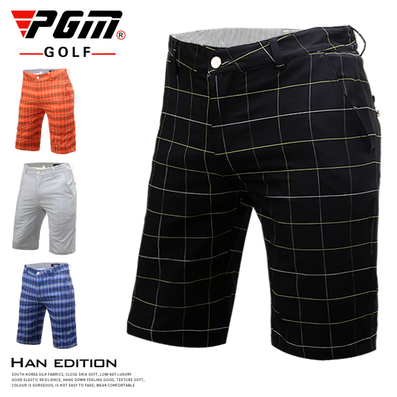 Two! Authentic pants mens Plaid Shorts Golf pants summer and autumn clothing golf clothing PGM