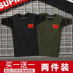 中国男士迷彩长袖军人纯棉秋季t恤