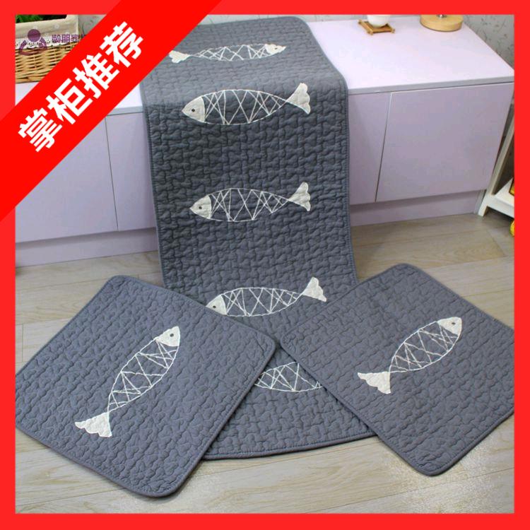 店长推荐出口韩国精品纯棉绗缝汽车座垫三件套不带靠背单件四季垫