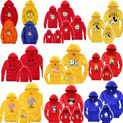亲子装秋装2020母子母女外套潮全家装一家三口加绒卫衣大码冬装