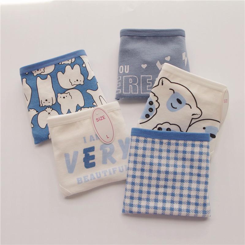 Polar bear Japanese low waist cotton girl underwear cute Harajuku small fresh cotton student gift box underpants girl