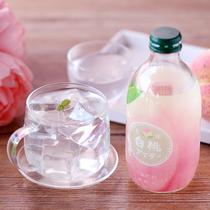 日本进口友升友桝农园丰润水蜜桃白桃果味碳酸汽水少女透明饮料