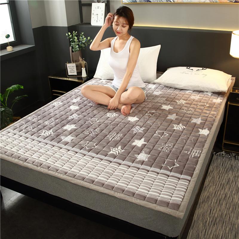 需要用券新款床垫软垫榻榻米防滑保暖水晶绒珊瑚绒法兰绒法莱绒垫被褥子垫