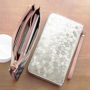 手机包零钱包袋手包手拿包迷你钱夹女式 小钱包女长款 百搭拉链韩版