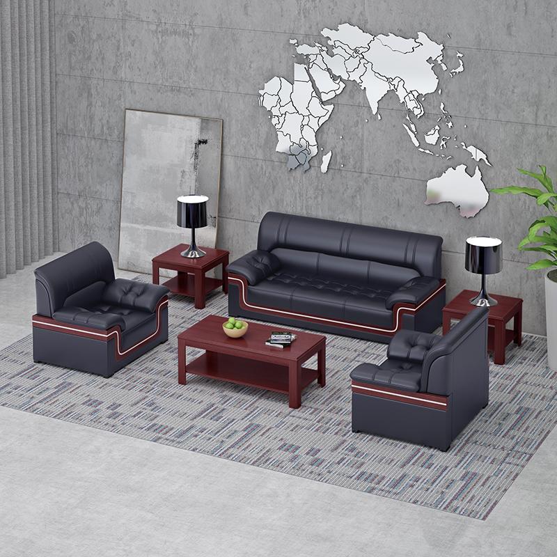 办公室沙发茶几组合时尚接待会客沙发商务沙发经理室三人位沙发