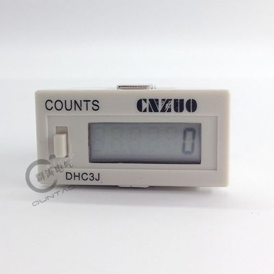DHC3J small electronic tired hour counter, 6-digit LCD display, with power-off memory and lock 1~999999