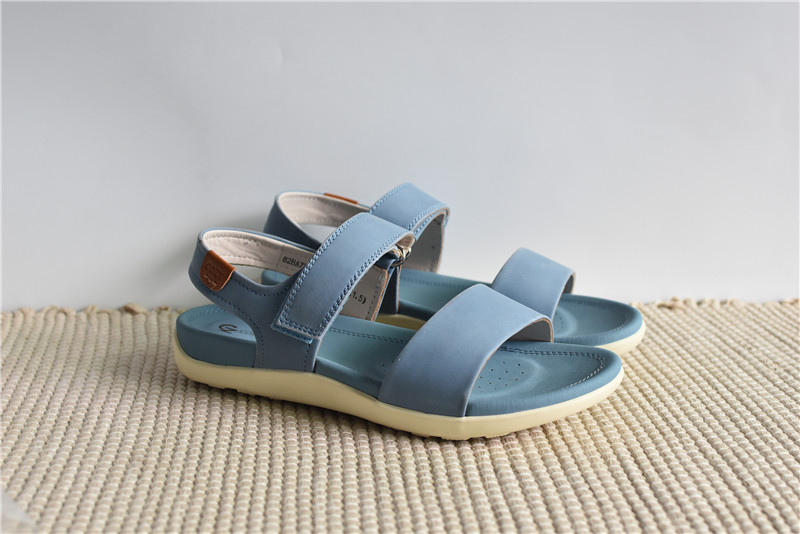 Special trade shoes inside and outside full leather easy to wear 21 summer new flat bottomed womens sandals leisure commuting