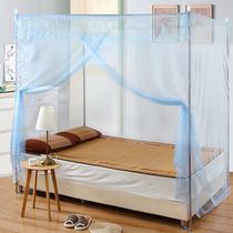 带落地支架双人蚊帐1.5米公主风1.8m床家用学生宿舍加厚密单开门