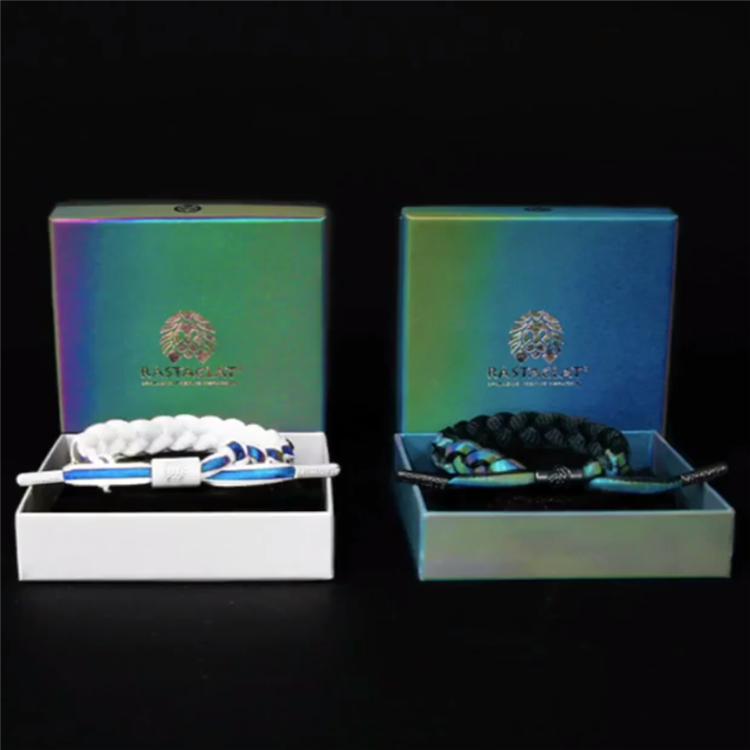 正品美国原盒原装小狮子手链情侣款黑白限定全息彩虹反光鞋带手环热销0件五折促销
