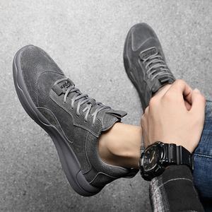 夏季薄款透气英伦风高帮中帮真皮鞋男鞋子男士潮鞋皮靴马丁男靴子