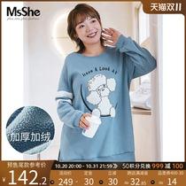 【天猫预售】【加绒加厚】大码女装2021新款胖妹妹冬装贴布绣卫衣