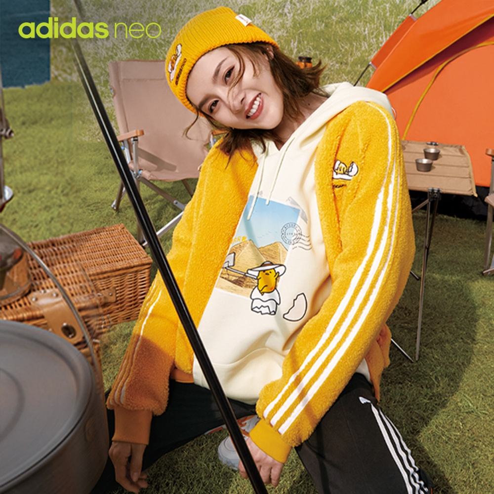 Adidas official website adidas neo egg yolk brother joint women's sports jacket coat GU8161GU8162