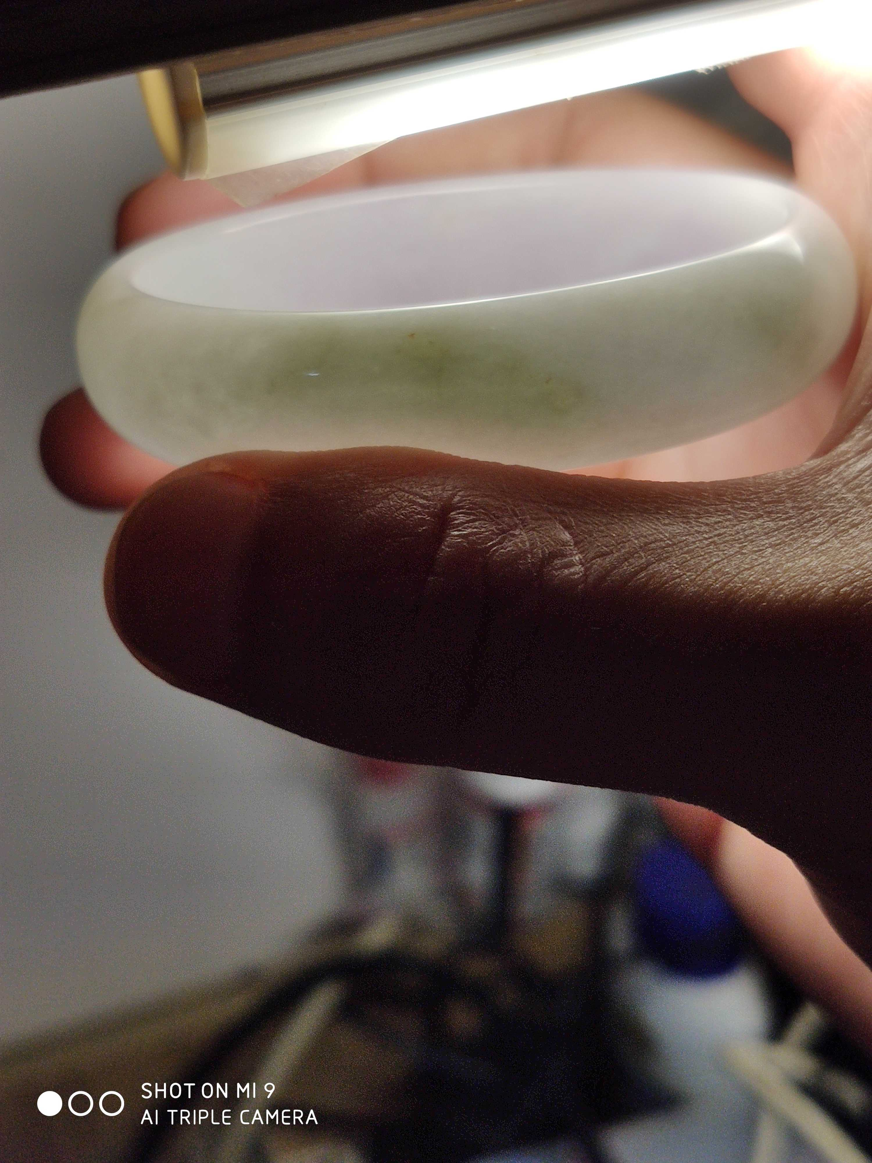 Peipei jewelry natural Burmese jadeite a goods lady Bracelet 53 * 46.8 circles mouth waxy kind certificate like false return
