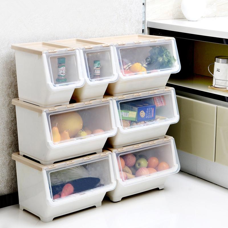 侧开式收纳箱大号宝宝衣物整理箱儿童玩具收纳盒储物箱有盖塑料箱