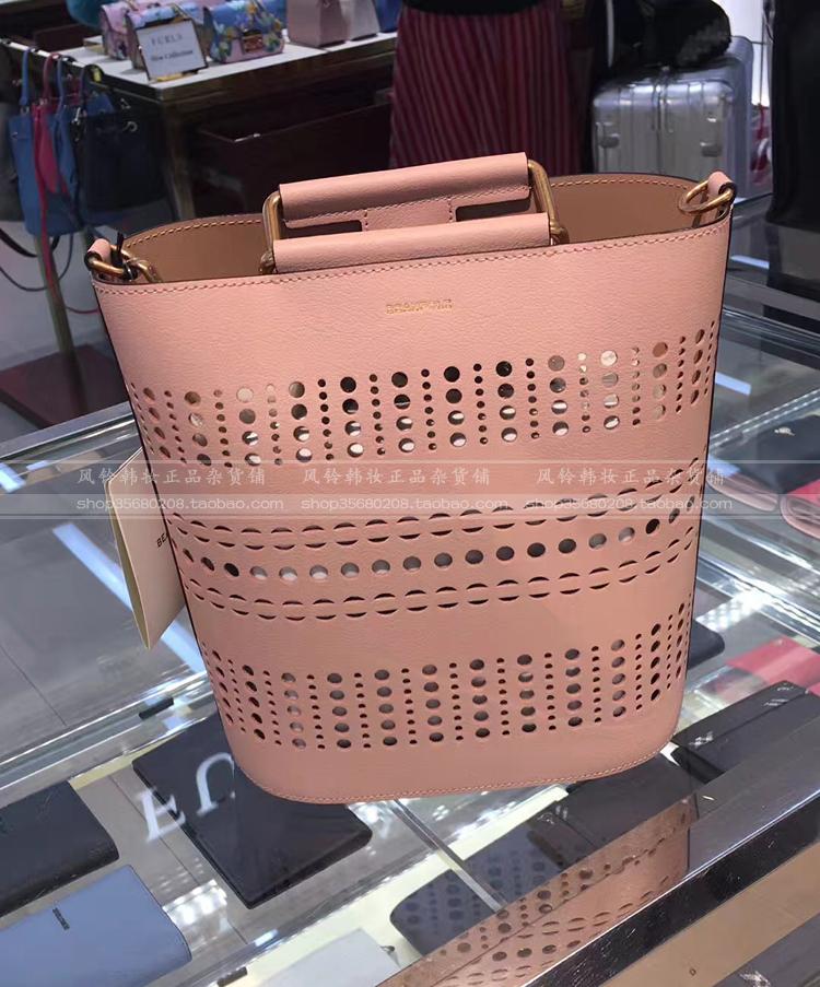 热卖 韩国 BEANPOLE滨波 商场同款女士甜美镂空手提包水桶包