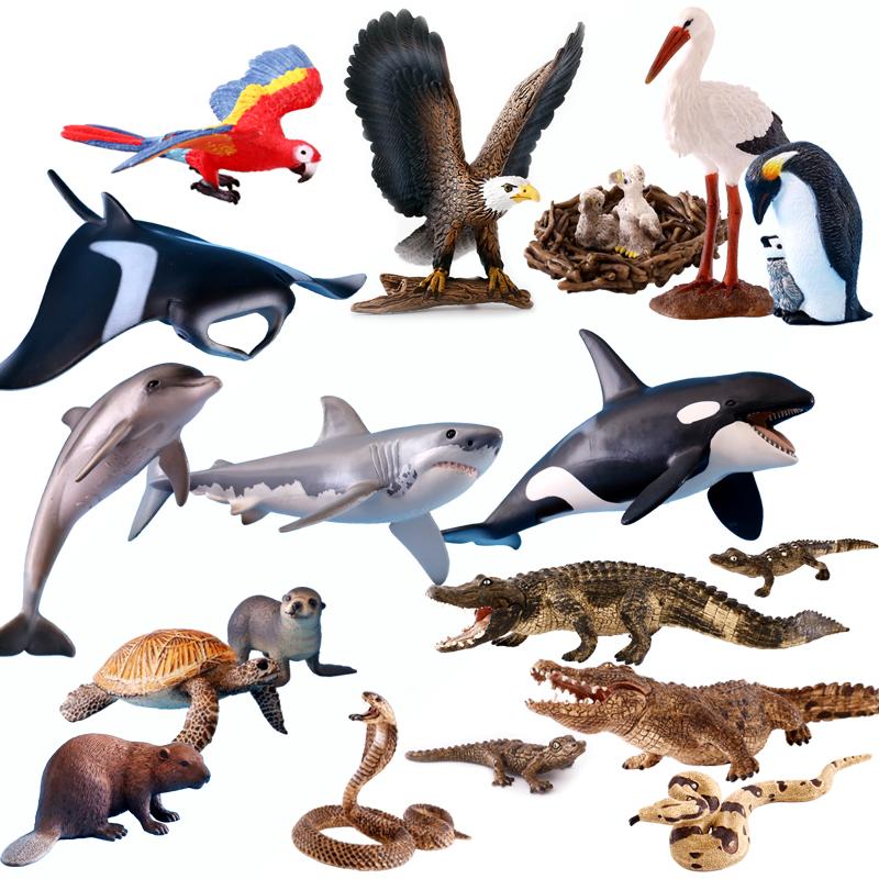 德國schleich思樂仿真海洋動物模型海豚烏龜蛇鱷魚鯨鯊魚海馬章魚
