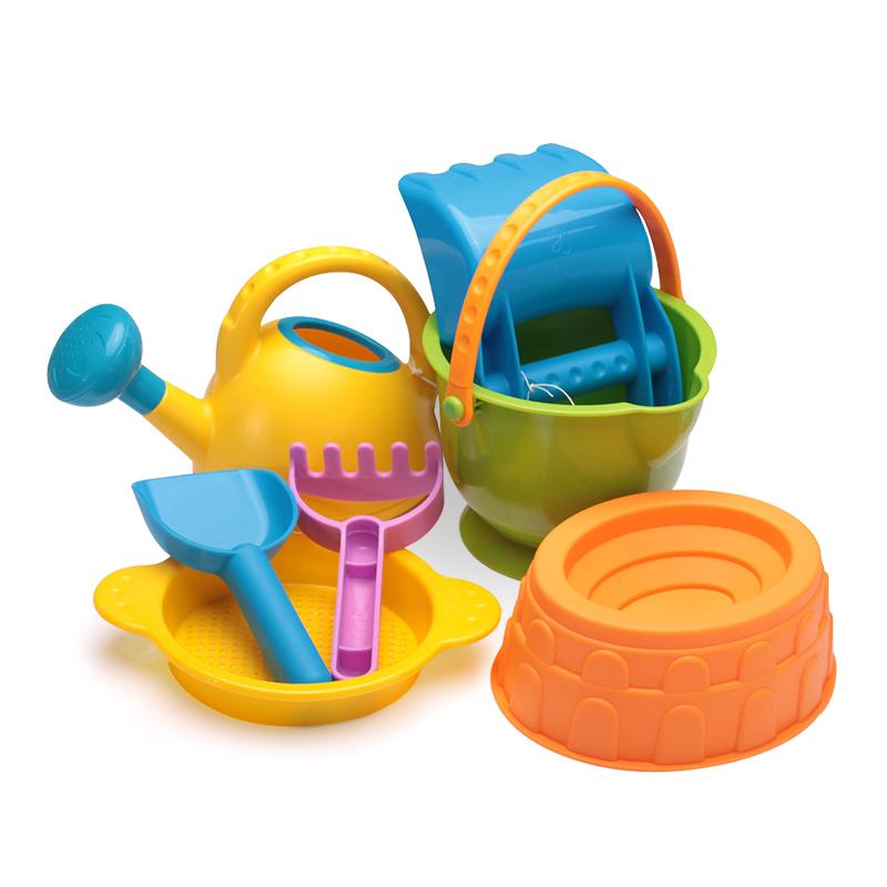 德國hape沙灘玩具7件套裝兒童決明子玩沙工具鏟子9件套升級折扣