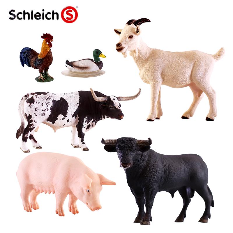 正品Schleich德國思樂玩具仿真動物塑膠模型家畜家禽農場動物多款