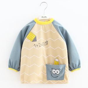 宝宝罩衣儿童围裙吃饭围兜衣婴儿防水反穿衣小孩秋冬防脏护衣罩衫