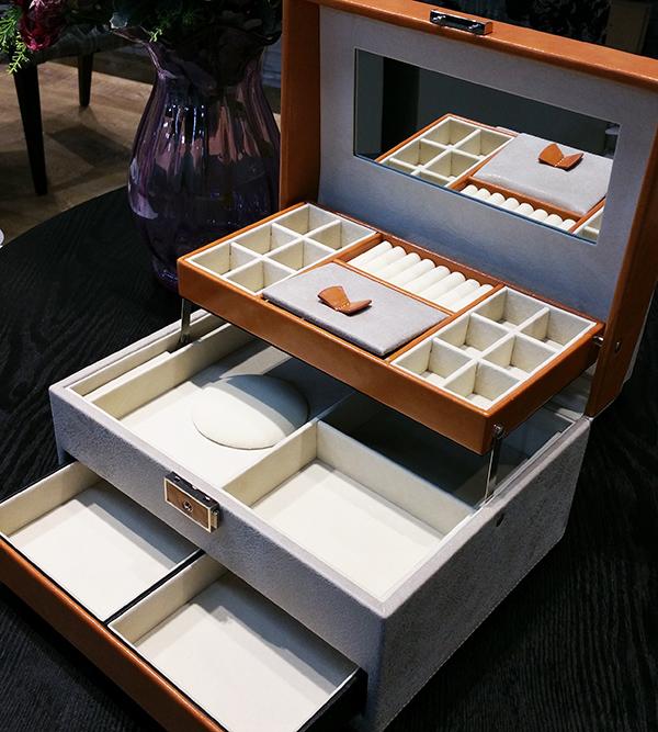 『薇家』出口品质高档珠宝收纳盒专柜正品首饰箱盒 满额 88折换购