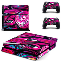 Ps4pro Body Sticker PS4 anti-scratch waterproof dustproof anime color map Ps4pro Electrostatic sticker rocker CAP 89