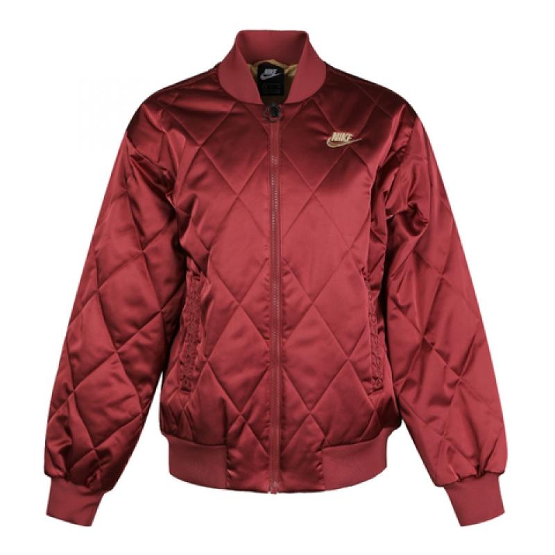 耐克女装春季新款CNY中国红运动棉服立领保暖夹克 CU3664-617-010