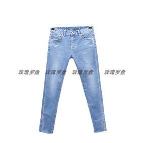 韩minibrand夏季新品9分牛仔裤