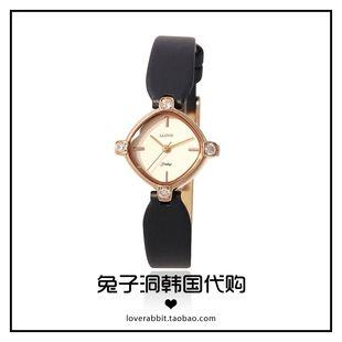 韩国专柜正品方形表盘牛皮真皮女手表时尚简约通勤日韩腕表LLOYD